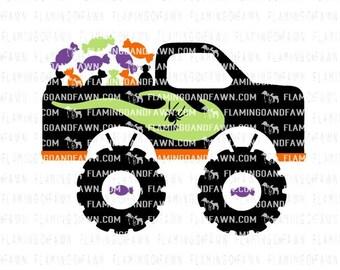 svg halloween truck, Monster truck svg, halloween truck svg files,  boy truck svg, spider truck svg, svg monster truck halloween