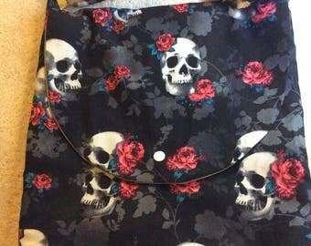 Rose and Skull Shoulder Bag-Adjustable strap!