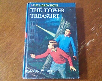 The Hardy Boys The Tower Treasure, Hardy Boys #1, Vintage Hardy Boys Book, Hardy Boys Hardcover Chapter Book, 1959