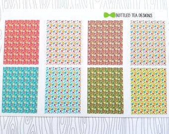 Retro Flowers Full Boxes (Set of 8) Item #542