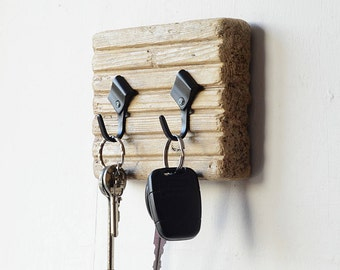 Driftwood Key Hanger - Driftwood Jewellery Organiser - Driftwood Key Rack - Driftwood Wall Decor - Recycled Wood - Driftwood Key Hooks