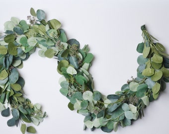 Eucalyptus Garland, Wedding Decor, Wedding Garland, Wedding Flowers, Greenery Garland, Silver Dollar Eucalyptus, Wedding Backdrop, Greenery