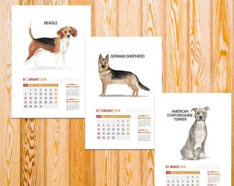 2018 Year of the Dog,Year of the Dog Calendar,Lunar New Year,2018 Calendar,Printable Wall Calendar,Printable Calendar,Chinese New Year,