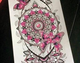 Pink Butterflies - Mandanimals