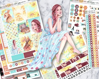 ULTIMATE Weekly Kit / One With Nature / Planner Stickers / Fits Erin Condren Vertical & MAMBI / Hand Drawn / Watercolor