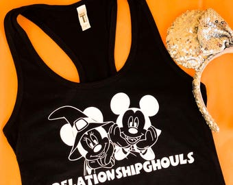 Disney Halloween Mickey and Minnie relationship ghouls tank top