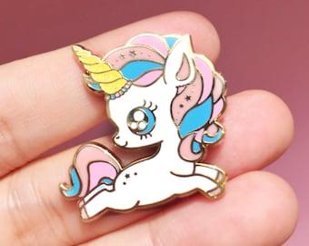 Kawaii Baby Unicorn Power Hard Enamel Pin