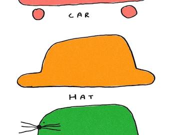Car hat cat