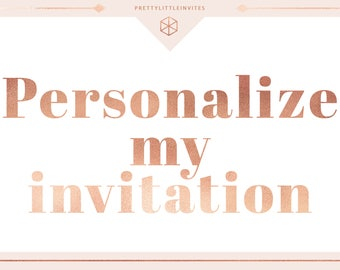 Edit my Templett Invitation For Me