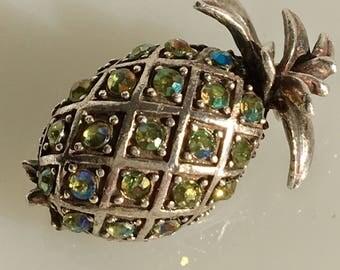 Silver Pineapple Brooch