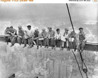 Summer Sale Lunch atop a Skyscraper 1932 POSTER