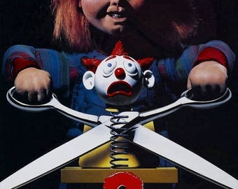 Back to School Sale: CHILDS PLAY 2 Movie Poster Horror Chucky