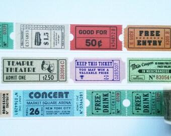 Design Washi tape tickets entry brand masking tape