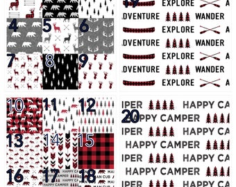 Adventure in red and black crib bedding, Lumberjack,,  woodland nursery, plaid, modern nursery, quilt, bumpers