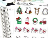 Christmas Planner Stickers - Winter Planner Stickers - Cat Planner Stickers - Doodle Planner Stickers - Hand Drawn - 1144
