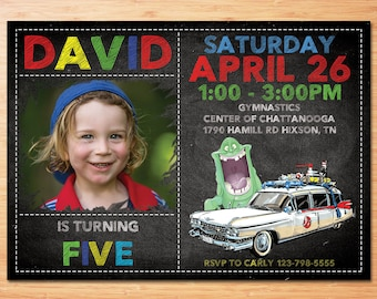Ghostbusters Birthday, Ghostbusters invitation, Ghostbusters birthday invitation, GhostBusters Birthday Party, Ghostbusters Invite