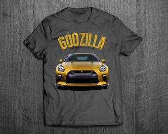 Nissan GTR Shirts, GTR t shirts, GTR Godzilla shirts, Cars shirts, men t shirt, women t shirt, funny shirts, muscle car shirts Motomotiveink