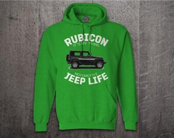 Jeep hoodie, Jeep Life hoodies, Jeep rubicon sweater, Unisex hoodies, Rubicon hoodies, Cars t shirts, Jeep t shirts, Funny t shirt, Jeep Top