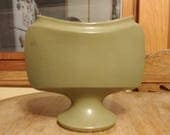 Olive green mid century vase by Floraline.