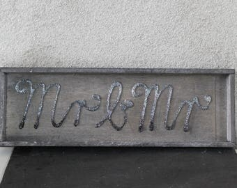 Wooden tray, gray, silver / gray, Mr & Mr