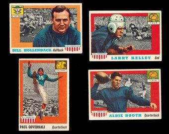 1955 Topps All-American College Four (4) Card Ivy League Set