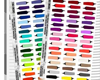 Multicolor Big Highlighters 1-2 #FD101-102