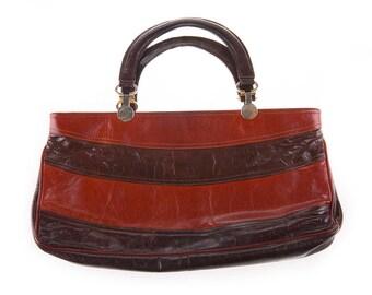 Bordeaux Red/Brown 80's Handbag