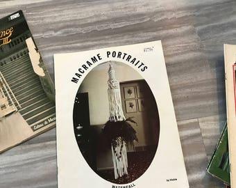 Macrame Portraits | vintage macrame magazine, vintage magazine, boho decor, macrame, macrame instructions, wall hanging, woven art