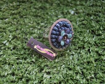 Ring blue zipper