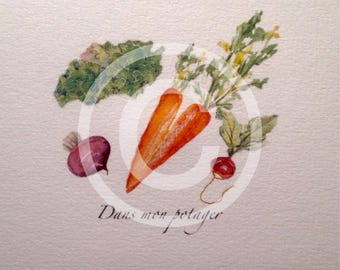 Card from my garden vegetables.