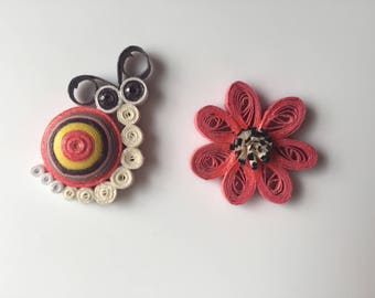 Handcrafted Quilled Magnet Set (2)