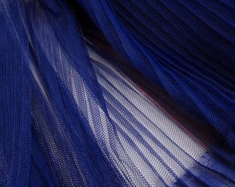 1 meter of Very Soft blue pleated Tulle- 40 inches long X 61 inches wide