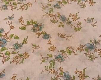 Vintage Blue Floral Monticello Pillowcase Bedding