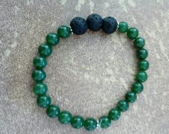 Malaysian jade and lava