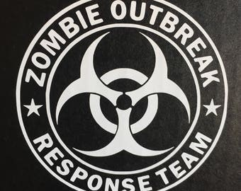 Zombie Outbreak Response Team Decal / Zombie Apocalypse Decal / Zombie Outbreak / Biohazard Decal