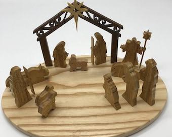 13-piece Nativity Set with Base