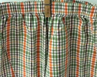 4T Orange and Brown Fall Plaid Pants