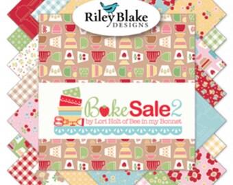 SALE! Bake Sale 2 Fat Quarter Bundle, Lori Holt of Bee In My Bonnet for Riley Blake FQ-6980-33