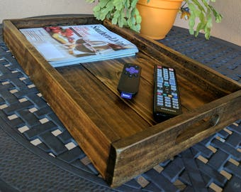 Beautiful Rustic Tray for Ottoman or Sofa from Reclaimed & Repurposed Pallet Wood