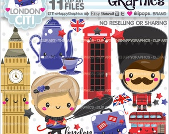London Clipart, 80%OFF, London Graphics, Commercial Use, London Party, City Clipart, Europe Clipart, British Clipart, London Theme, Cute