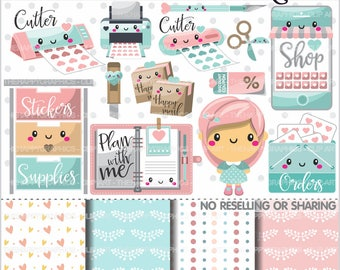 80%OFF - Planner Clipart, Planner Graphics, COMMERCIAL USE, Planner Icons, Planning Clipart, Planner Accessories, Planner Girl, Plan