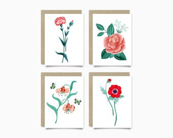Greeting Cards - Floral Pack