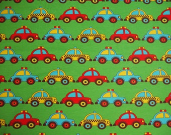 Naperonuttu 3 cars organic Jersey childrens fabric Finnish design Scandinavian