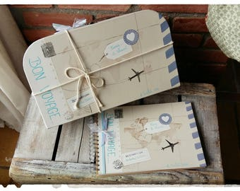 "All wedding suitcase box """" journey""+ guestbook (large)"