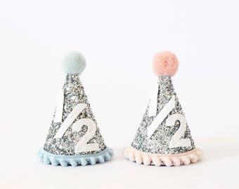 6 month Celebration Party Hat | Birthday Outfit Girl | Birthday Boy Outfit | 1/2 Birthday Hat | Smash Cake Outfit