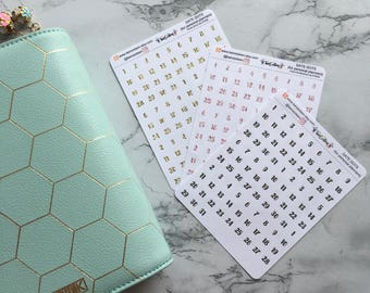 Date Dot stickers for personal planners // date covers // date label // stickers for planners