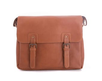 Genuine Vaqueta Leather School Sathcel Handcrafted in Colombia