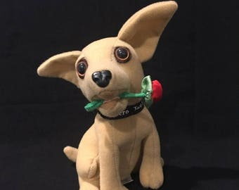 "summer17 Taco Bell Talking Chihuahua - Says ""I think I'm in love!"" - ca 1997"