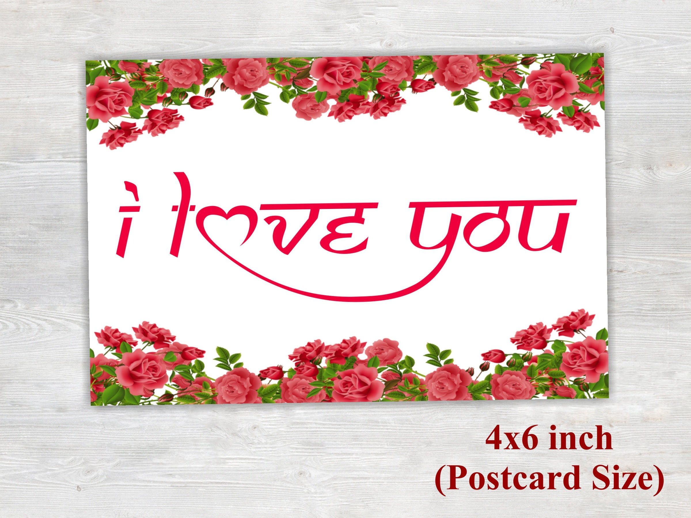 I Love You Card Printable Card Floral Card Love Card Proposal