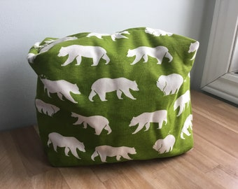 Travel / Accessory / Make-up Bag - Green Bears